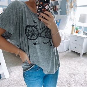 Gray Oversized Graphic Tee Urban Outfitters